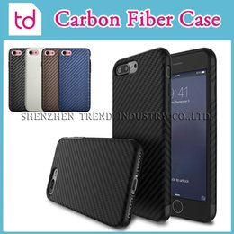 Wholesale Carbon Fiber Pattern Case For iPhone Plus Allergy proof TPU Hard Back Case Cover For iPhone S SE S