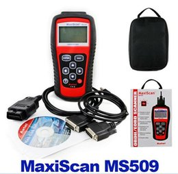 Wholesale Hot Selling Autel MaxiScan MS509 OBDII EOBD Auto Code Reader Fit For US Asian European Vehicles MS Diagnostic tools