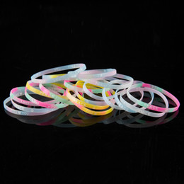 1000pcs Wholesale Flashing Silicone Bracelet Light-Up Wristband Luminous Toys Multi-Color