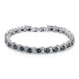Women's Fashion 18K Gold Plated Bracelet GP Round Agate Clear Cubic Zirconia Tennis Bracelet Party Bangle Bracelet