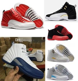 2017 chaussures de sport pas cher 2016 pas cher air rétro 12 XII Basket-ball chaussures chaussures homme Gym Red Taxi Playoffs Gamma Bleu Loup Grey Sports Chaussures Rétro 12 XII chaussures de sport pas cher promotion