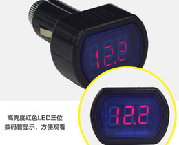 50pcs lot Digital LED Car Truck Battery Voltmeter Voltage Gauge Volt Meter 12V 24V
