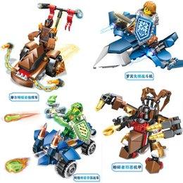 Wholesale 2016 Nick Knights Future Knight Castle Warrior Lava Smash Elemental Minifigures Bricks Building Blocks CLAY Macy as gift Toys