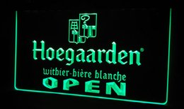 LS476-g Hoegaarden Beer OPEN Bar Neon Light Sign
