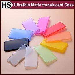 Acheter en ligne Cas transparents pour iphone 4s-iPhone7 0.3mm Case PP souple ultra-mince givré pour l'iPhone 4 4S 5 5S SE 6 6S 7 Plus Matte Couverture Transparent Livraison gratuite