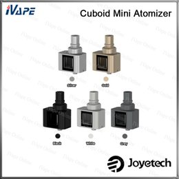 100% Original Joyetech Cuboid Mini Atomizer 5ml Capacity Tank With New 0.25ohm NotchCoil DL Head Special Square & Leak Resistance Cup Design