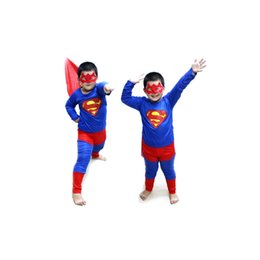 Wholesale Superman Outfit For Kids - Hallowmas Superman Outfit Child Kid Costume Suit for Halloween Party(S,M Available)