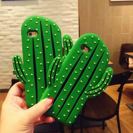 Funny 3D Cactus Phone Case Soft Silicone Rubber Capa for Iphone 6 6s 6 6s Plus Cartoon Back Cover Fandas