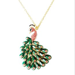 Free Shipping Peacock Pendant Necklace, Rose Stone Necklace, Hot Sale Pendant Necklace, Fashion Trendy New Necklace