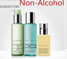 Wholesale Hot set classical Mositure Non Alcohol trilogy ml clarifying lotion ml Liquid Facial Soap ml face cream