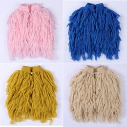 Ins Hot Sell New Kids Girls Knitted Tassels Cardigans Vests Multi Color Princess Sweet Baby Kids Fall Winter Jackets Outwears