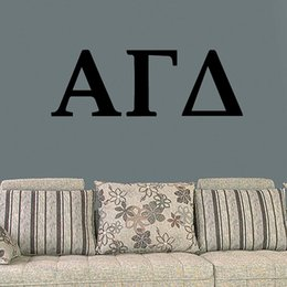Wholesale Alpha Gamma Delta Fraternity Military Insignia Vinyl Wall Stickers Decals Home Decor Living Room Suitable For The Bedroom