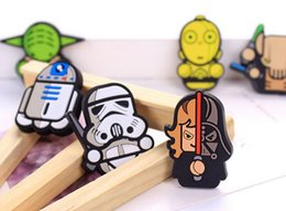 Wholesale 2016 Newest Star Wars Fridge Magnet Cute Cartoon Fashion resin Star War Darth Vader Funny Refrigerator Toy BSH65