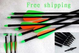Wholesale 12pcs Inch cm Spine Blue White Target Practice Steel Point Archery Fiberglass Arrows for Hunting Compound Recurve Bow