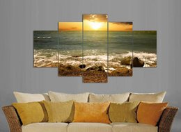 5pcs set Sunrise print painting Home Decoration paintings for living room modern wall to wall photos frames picture