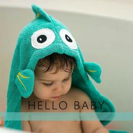 Baby Bath Towel Hooded Kids Children Bathrobes Toddler Boy Bath Robes Baby Bath Robes Kids Beach Towels Elephant Fish Cotton Bath Towel 171