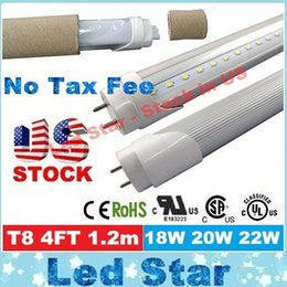 Wholesale Stock In US t8 ft tube w w w mm led tubes light leds clear cover AC V UL FCC