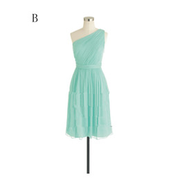 Pleated Short Chiffon Bridesmaid Dress 2016 One Shoulder Sweetheart V Neck Bridesmaid Dress Lace Up Back