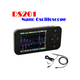 Wholesale DSO201 Mini Portable Multimeters Analyzers Digital Storage Oscilloscope Inch LCD Display with USB Cable Limt Bag Probe Diagnostic Tool