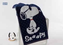 Wholesale Snoopy double layer hand towel untwisted face towel blue gauze towel antiseptic