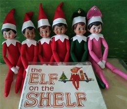 Wholesale Hot Style Christmas Elf Doll Plush toys Elves Xmas dolls and Soft Back Books on the shelf For Kids Holiday Christmas Gift