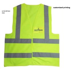 Customized print Reflective Safety Clothing Worker Clean sanitation highway road traffic reflective warning vest high light reflective vests