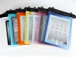 Galaxy tab caja estanca en venta-28 * 21CM Natación Boating Pesca Underwater Waterproof PVC Sealed Case Bag Para iPad 2 3 4 5 Air Samsung Galaxy Tab 2 10.1 pulgadas Tablet PC