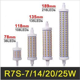 Canada R7S Lampe LED 78mm 118mm 135mm 189mm 7W 14W 20W 25W LED R7S Ampoule à maïs Dimmable SMD2835 R7S Éclairage LED r7s led 118mm dimmable promotion Offre