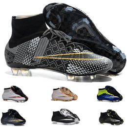 Wholesale Mens Best Soccer Boots Cleats Mercurial Superfly FG Shoes Men Soccer Boots soccer shoes Sport Shoes adizero cr7