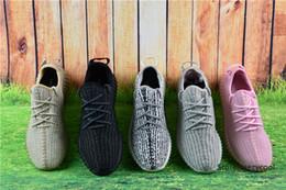 Mejores botas al por mayor de las mujeres en Línea-Con la venta al por mayor de las zapatillas de deporte de la caja Las mejores botas baratas 350 mujeres de los hombres de las botas de Kanye West empujan los zapatos baratos de los deportes Tamaño libre 5-11.5 del envío de la gota