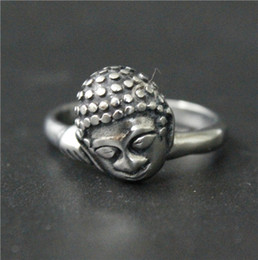 Size 7-14 Ladies Womens 316L Stainless Steel Jewelry Mini Buddha Ring Good Quality Special Band New Biker Ring