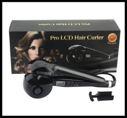 Wholesale pro lcd hair curler beauty hair automatic curling irons electronic device popular temperature adjustment hair curler dhl shipping