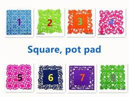 Pot mat, 25x25 cm, 35x35 cm kitchen, dining table, bar blanket insulation pad. Clean, clean and tidy necessities. Support custom wholesale,
