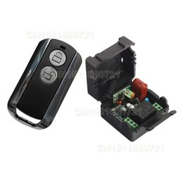 Wholesale AC220V CH RF Wireless Remote Control Switch System MHZ Transmitters Receiver Learning code Add controller
