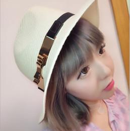 Wholesale 2016 Nouvelle personnalité chapeau occasionnel d été Mme doubles fer cap arc capuche britannique tissé gros herbe