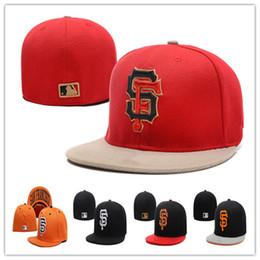 Wholesale San Francisco Giants Fitted Hats Baseball Caps Fits Cap Size Flat Brim Ball Cap Team Sports Fashion Hat