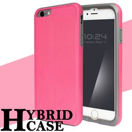 Wholesale Genix Dual Layer Candy Cases Hybrid in Rugged Armor Cover Case For iPhone s plus