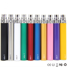 eGo t battery 650mah 900mah 1100mah batteries electronic cigarettes 510 thread for CE3 CE4 atomizer MT3 protank H2