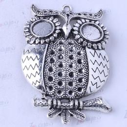 Owl charms antique Silver bronze alloy zinc Pendant DIY jewelry pendant fit Necklace 5pcs lot 3469