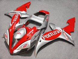 Motorcycle Fairing kit for YZFR1 02 03 YZF R1 2002 2003 yzfr1 YZF1000 Fortuna red silver ABS Fairings set