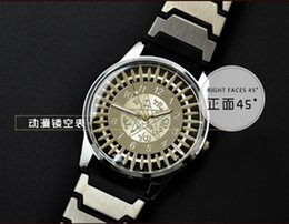 Wholesale 2016 Newset For Men Black Bulter Animated Cartoon Peripheral Accessories Shire Buss Contract Sign Hollow Wristwatches