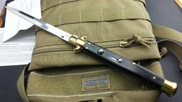 Wholesale Italy AKC INCH AB black ox bone pocket knife folding knife camping knife gift knife for man freeshipping