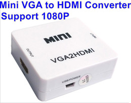 MINI 1080P VGA to HDMI Adapter VGA2HDMI Converter Connector With Audio for PC Laptop for PS3,XBO,X360 to HDTV Projector