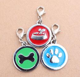 Теги кошки Онлайн-Ожерелье персонализированных нового высокого качества собаки Paw сплава цвета Pet Dog Cat ID карты Тэги Сплав украшения брелок зоотоваров Бесплатная доставка DHL