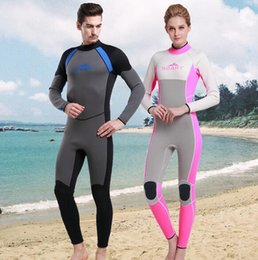 Wholesale 2016 Stylish PRO Scuba MM neoprene Wetsuit Warm Thick Snorkeling Drysuits Water Sports for winter swimming