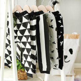 Wholesale 2016 ins autumn baby girls boys geometric striped birds print cotton harem pants PP pants