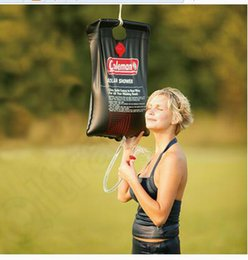 Wholesale LJJK357 L Gallon SOLAR Camping Shower Portable Outdoor Camping Hiking PVC Water Bag Solar Energy Heated Camp Shower Pipe Bag Portable