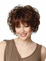 2018 heat resistant wig hair kinky curly synthetic short blonde wigs for fashion lady free shipping