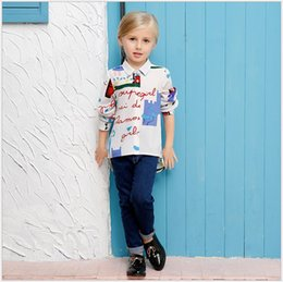 New Big Girl 2016 Spring Autumn Colorful Graffiti Long Sleeve Fashion Shirt Girls 100% Cotton Lady Style Turn-down Collar Casual Shirts