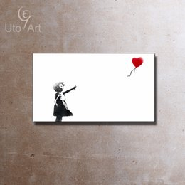 Wholesale Lonely Girl Heart Oil Painting Giclee Printing On Canvas For Living Room Cafe Home Decor Wall Art Unframed Decoration